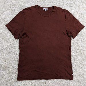 James Perse Shirt Men Large Size 3 Brown Blank A30